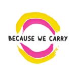 Logo because we carry, bezoek de app voor alle organisaties die Givt gebruiken