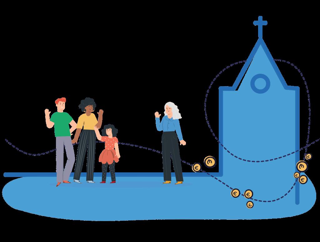 Collecteren in de kerk, voor iedereen overal beschikbaar