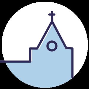 Op basis van je locatie in de kerk geven, bijzonder geschikt om rijvorming te voorkomen